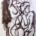 """Gesture Drawing"" Charcoal on Paper, 2009"