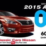 """Home of the $99 Altima"" Classic Cars Nissan 6.5""x3.75"", 2015"