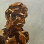 """Tiny Matisse #4"" 4""x4"" Oil on Canvas, 2009"